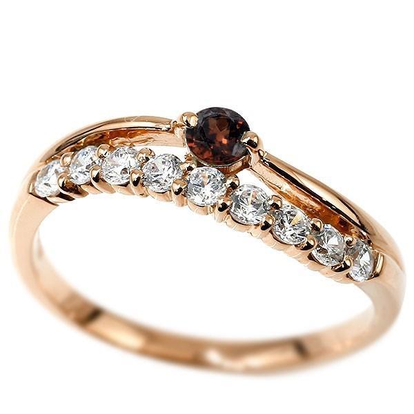 春新作の リング 指輪 レディース 18金 ダイヤモンド ガーネット ピンクゴールドk18 18金 2連 ダイヤモンド レディース ダイヤ, トップビジネスマシン:e3706099 --- airmodconsu.dominiotemporario.com