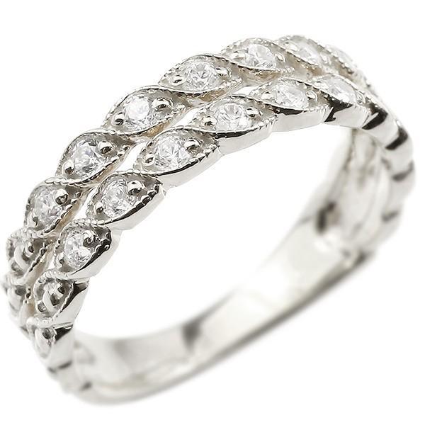 【国内発送】 指輪 レディース リング シルバー925ダイヤモンド 2連 ミルグレイン svシルバー925, ヤカゲチョウ d88823a7