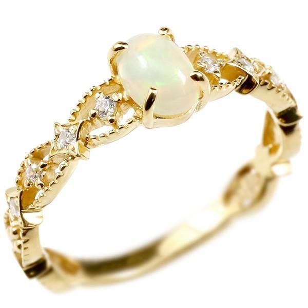 春夏新作 指輪 レディース リング イエローゴールドk10 オパール キュービックジルコニア, AAA net Shop 15c50cfc