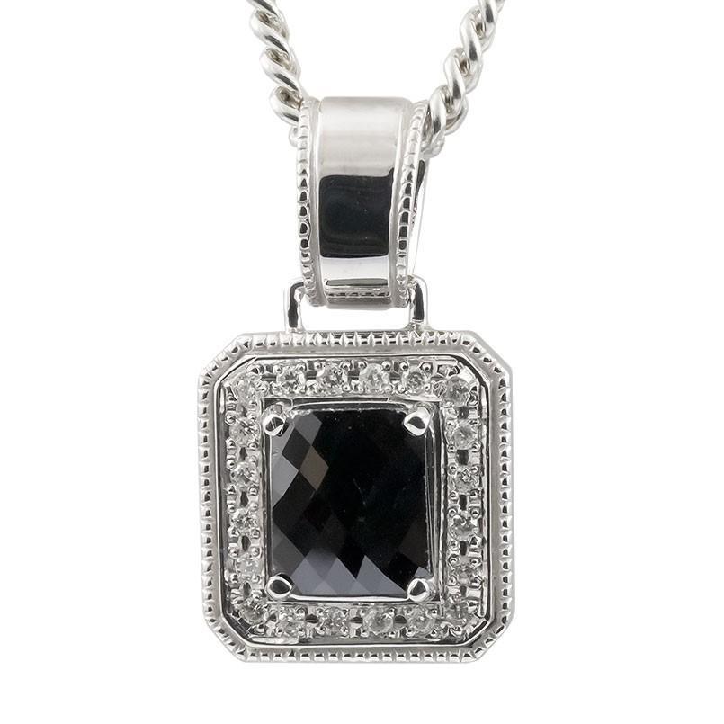 【激安大特価!】  ネックレス メンズ ブラックダイヤモンド ダイヤモンド ホワイトゴールドk18 18金, タカセチョウ a306db62