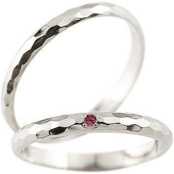 ラウンド  結婚指輪 レディース 指輪 ルビー ホワイトゴールドk18 18金, 亀や和草 8dad744c