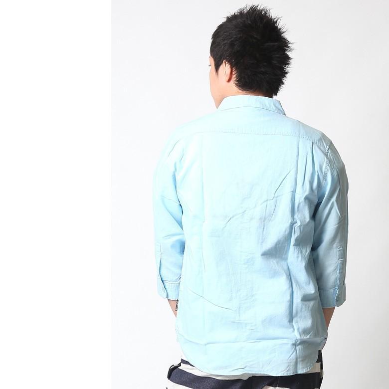 シャツ メンズ 綿麻 7分袖 おしゃれ 白 黒 カジュアルシャツ アメカジ ビジネス リネンシャツ 白 ホワイト 紺 ネイビー M L XL XXL ストリート系 春 刺繍|attention-store|12