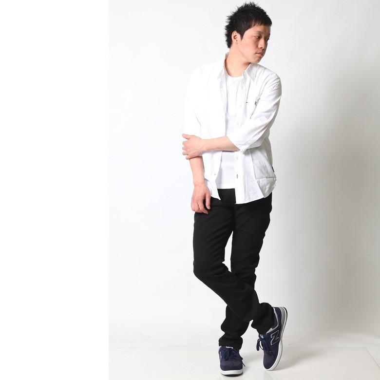 シャツ メンズ 綿麻 7分袖 おしゃれ 白 黒 カジュアルシャツ アメカジ ビジネス リネンシャツ 白 ホワイト 紺 ネイビー M L XL XXL ストリート系 春 刺繍|attention-store|06