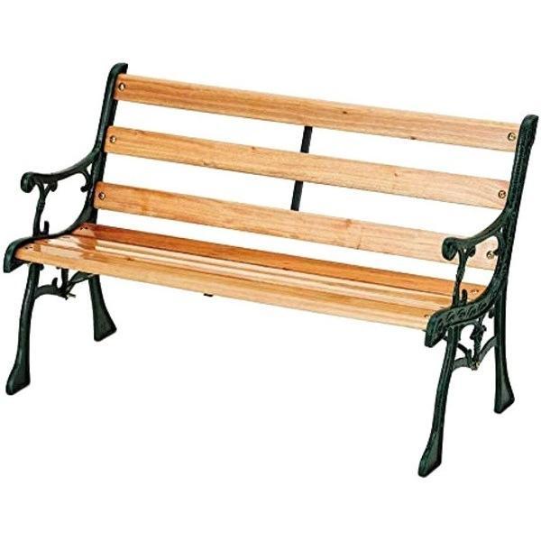 ガーデンベンチ おしゃれ アイアン 天然木 背もたれ 屋外 安い ベンチ 椅子 庭 ガーデンチェア ミニ 小さめ ガーデンファニチャー ウッドデッキ|attention8-25|04