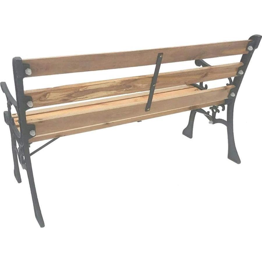 ガーデンベンチ おしゃれ アイアン 天然木 背もたれ 屋外 安い ベンチ 椅子 庭 ガーデンチェア ミニ 小さめ ガーデンファニチャー ウッドデッキ|attention8-25|05