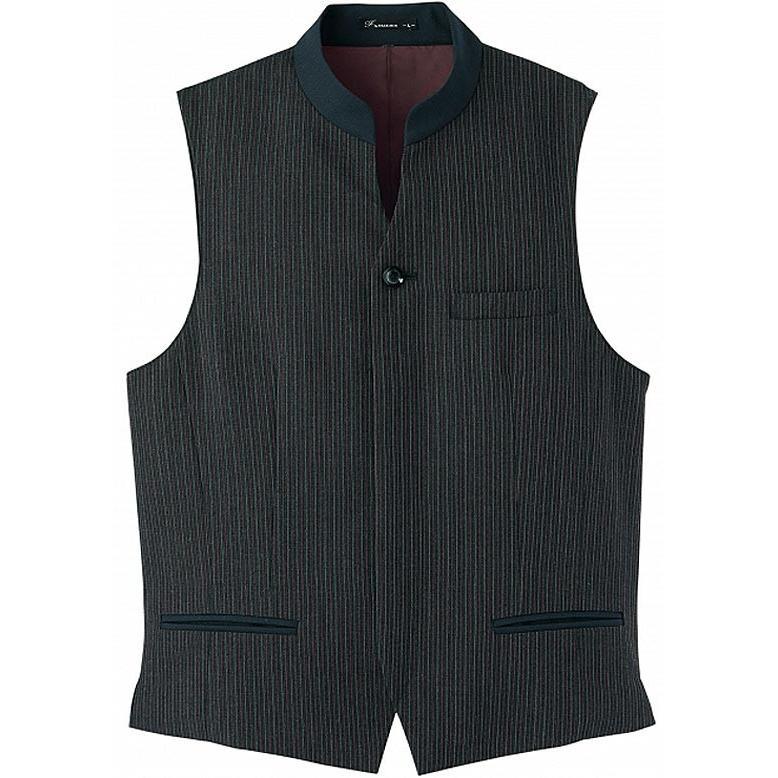 マオカラーベスト メンズ ホテル制服 ソムリエ ギャルソン コンシェルジュ レストラン フォーマルユニフォーム FV1011M|aupres-uniform|02
