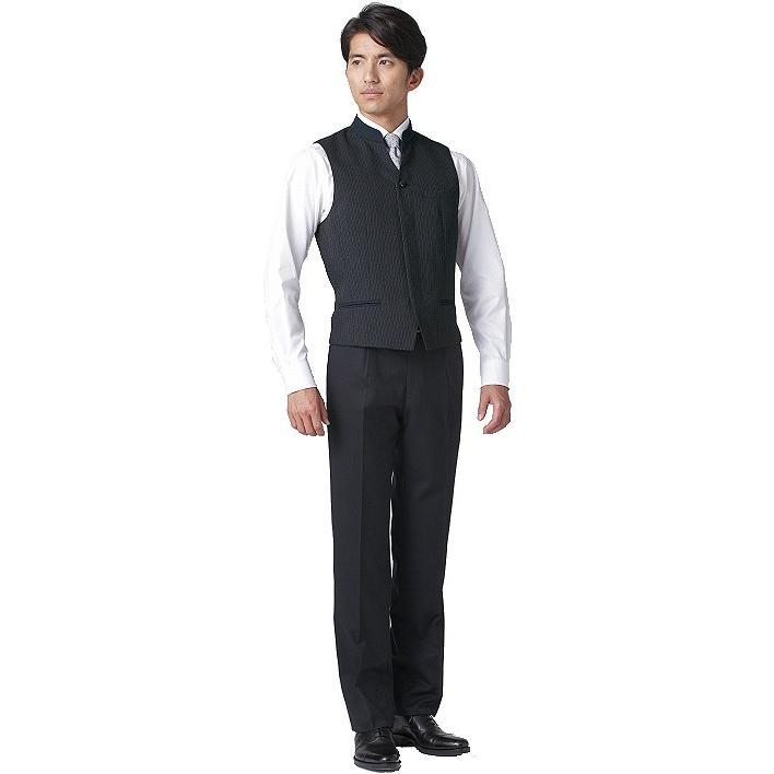 マオカラーベスト メンズ ホテル制服 ソムリエ ギャルソン コンシェルジュ レストラン フォーマルユニフォーム FV1011M|aupres-uniform|04