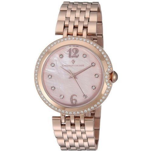 非常に高い品質 腕時計 クリスチャンヴァンサント レディース Christian Van Sant Women's Jasmine Rose Gold Tone Stainless Steel Watch CV1614, TWOFACE df0796f4