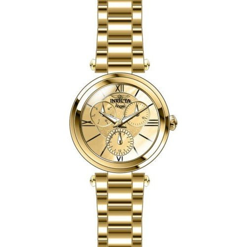 珍しい 腕時計 インヴィクタ Steel インビクタ レディース Invicta インヴィクタ Women's Tone Angel Quartz Chrono 100m Gold Tone Stainless Steel Watch 28926, 美食街道:de02070c --- airmodconsu.dominiotemporario.com