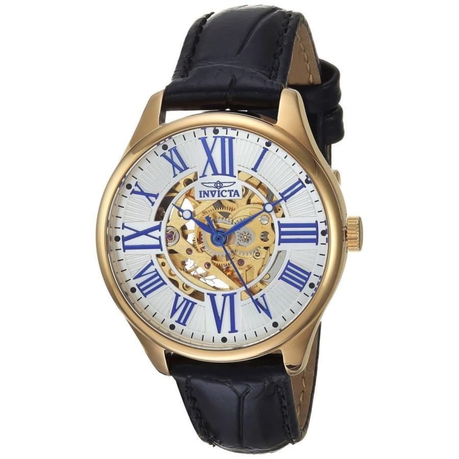 最新コレックション 腕時計 インヴィクタ インビクタ レディース Invicta 23659 Women's 'Vintage' Automatic Black Leather Strap Watch, HDCトータルプロショップ e85f70e2