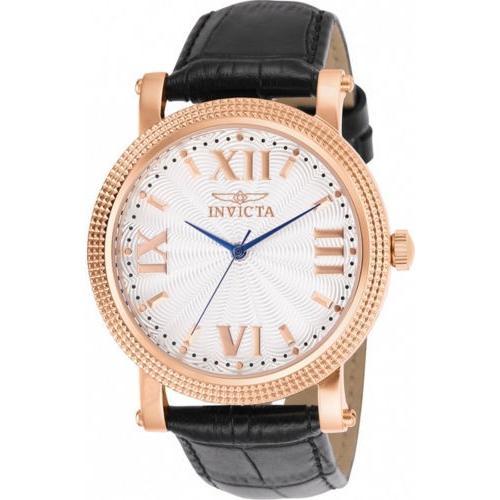 熱販売 腕時計 インヴィクタ インビクタ レディース Invicta Women's Vintage Analog 100m Quartz Black Leather White Dial Watch 25752, 京都市 803f2371