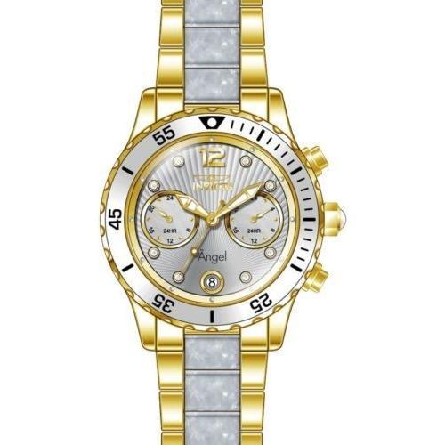 【あす楽対応】 腕時計 インヴィクタ インビクタ レディース Invicta Women's 24702 Angel Quartz Multifunction Silver Dial Watch, DIY FACTORY ONLINE SHOP 32c352f6