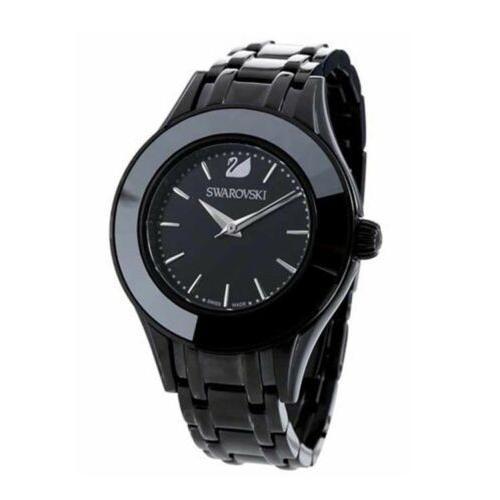 注目の 腕時計 スワロフスキー レディース Swarovski Women's Alegria Swiss Quartz Black Stainless Steel Watch 5188824, かにの街えさし「海洋食品」 775823df