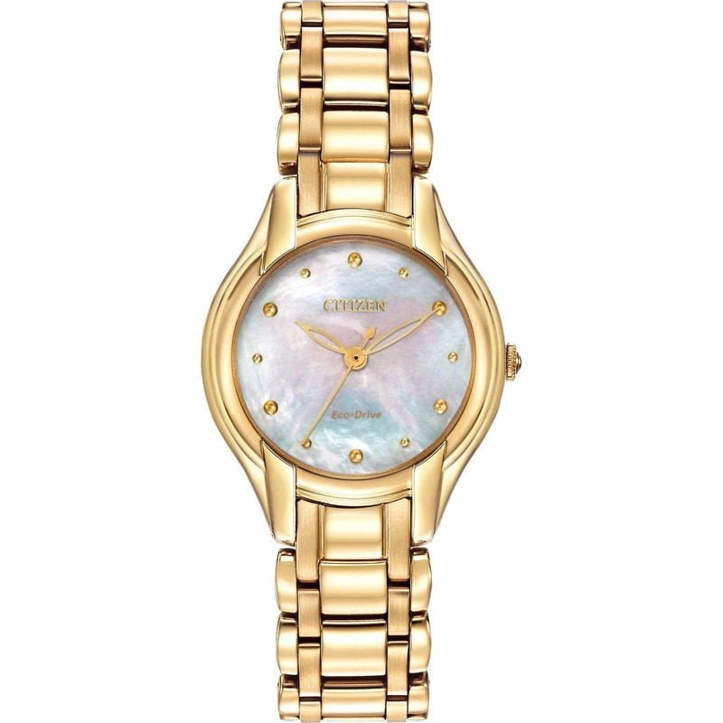 激安 腕時計 シチズン レディース Citizen Eco-Drive Women's EM0282-56D Silhouette Gold Tone Watch, カワカミソン a5422da0
