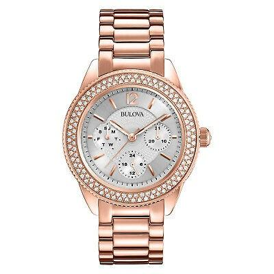 【レビューを書けば送料当店負担】 腕時計 Bulova ブローバ レディース Bulova Women's 97N101 Watch Quartz Crystal Accented 97N101 Rose Gold-Tone Bracelet 38mm Watch, 大蔵質店:5c60e04f --- airmodconsu.dominiotemporario.com