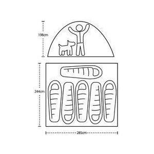 【ビッグアグネス Bigagnes】バンクハウス  6 (キャンプ/大型テント/簡単設営) auroralodge 10
