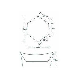 【ビッグアグネス Bigagnes】ディープクリークタープM (キャンプ/タープ/シェルター)|auroralodge|06