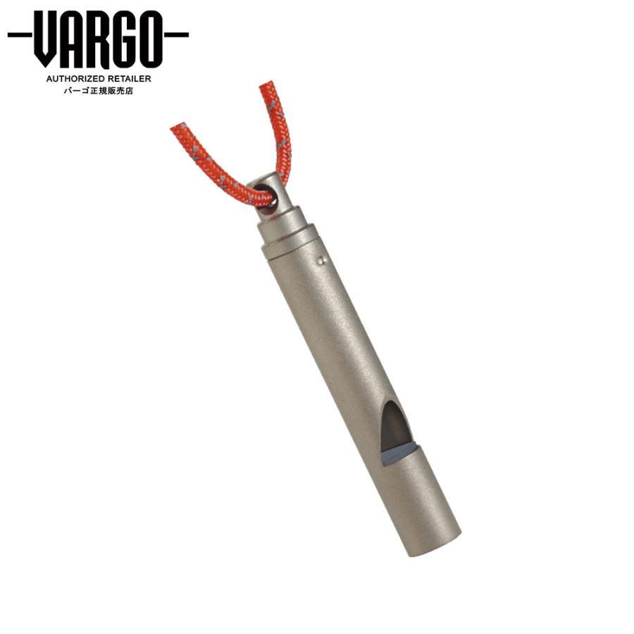 【バーゴ VARGO】チタニウム ホイッスル ネックストラップ付 (チタン/笛/軽量/UL/ウルトラライト)|auroralodge