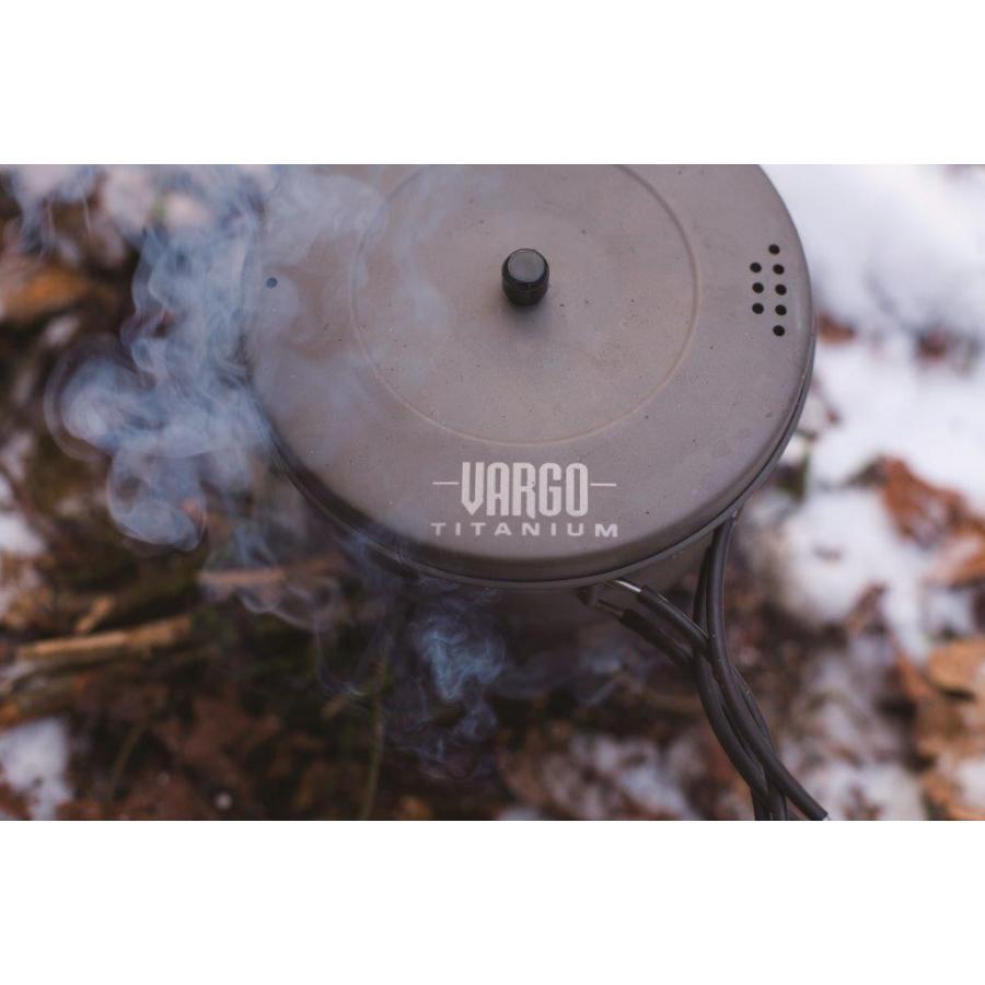 【バーゴ VARGO】1.3Lチタニウム ポット (クッカー/コッヘル/チタン/軽量/ウルトラライト/UL) auroralodge 02