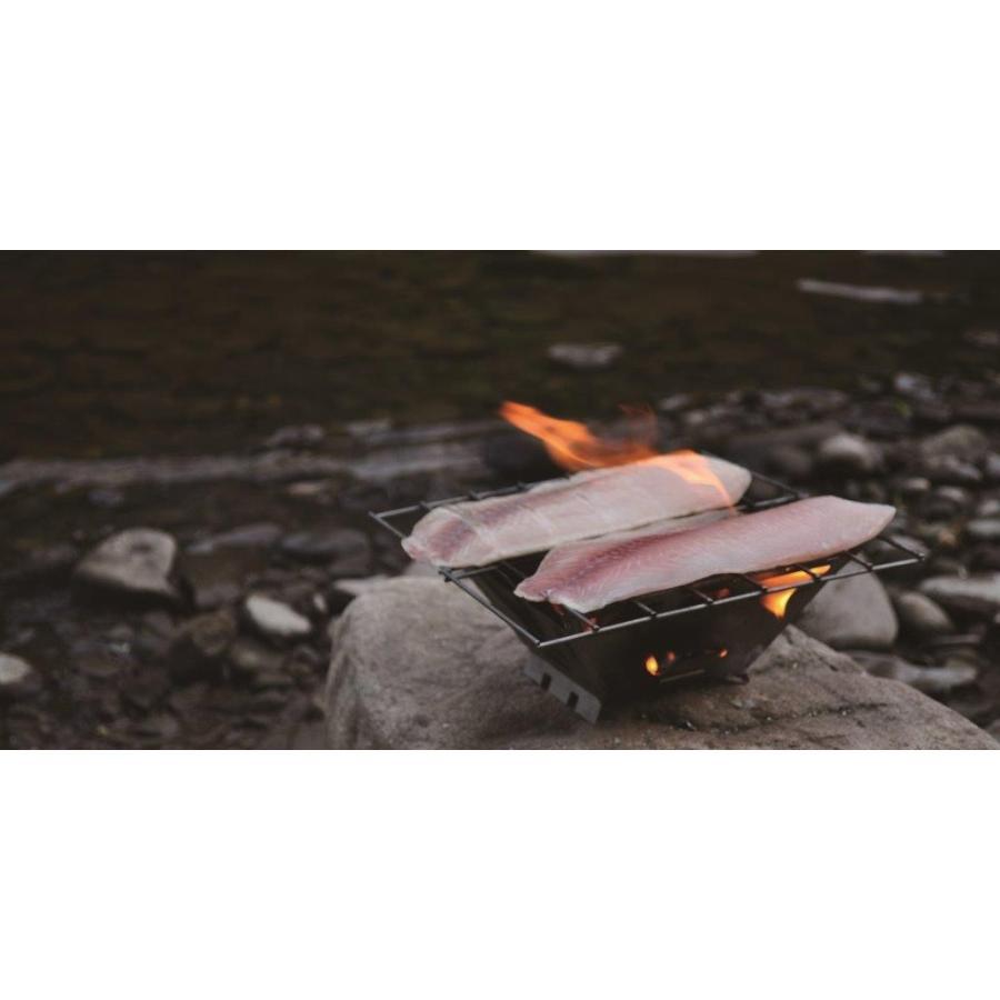 【バーゴ VARGO】ファイヤーボックスグリル ステンレス (ネイチャーストーブ/焚火台/軽量)|auroralodge|03