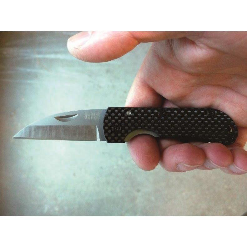 【バーゴ VARGO】Ti-Carbonフォールディングナイフ (チタン/カーボン/軽量/ウルトラライト/UL)|auroralodge|03
