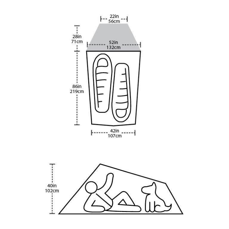 【ビッグアグネス Bigagnes】フライクリーク HV2 カーボン W/ダイニーマ (軽量テント/ウルトラライト/登山/ハイキング/トレッキング)|auroralodge|04