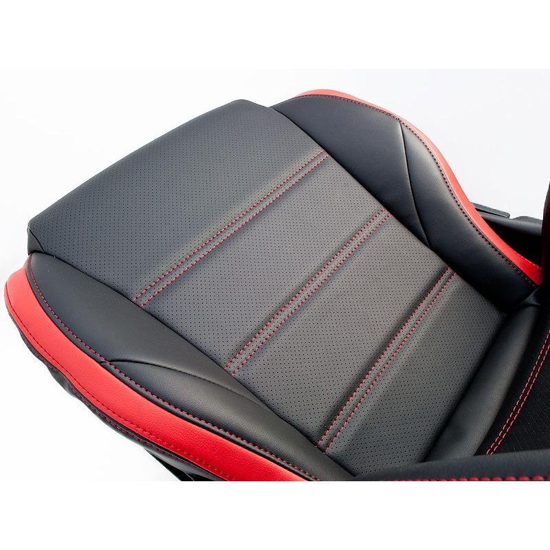 [G'BASE] ジーベース オリジナル ダイハツ 新型 コペン用 シートカバー ブラック×レッド 【DAIHATSU COPEN [LA400K]】 auto-craft 02