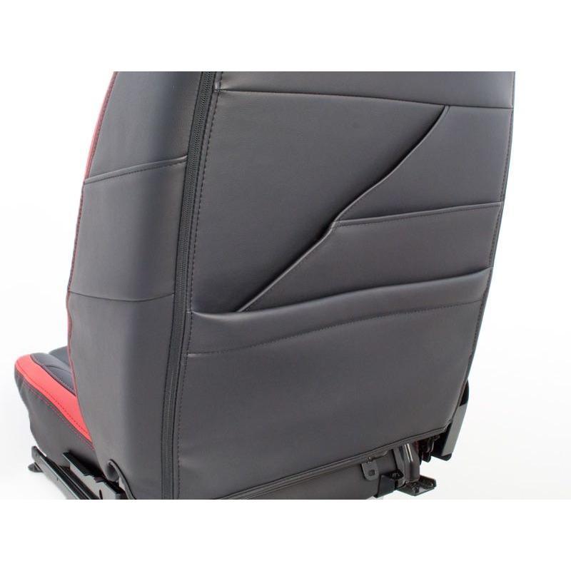 [G'BASE] ジーベース オリジナル ダイハツ 新型 コペン用 シートカバー ブラック×レッド 【DAIHATSU COPEN [LA400K]】 auto-craft 04