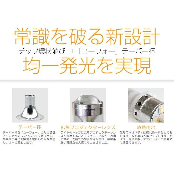 T10 LEDポジション球/バックランプ 30W SHARP製 360度発光 6500K 広角 無極性 DC 12V対応 LEDテープ/LEDルーム球 一年保証!即納!メール便送料無料! autoone 02