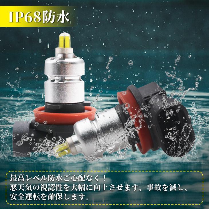 LEDフォグランプ 新品登場! H8/H11/H16/HB3/HB4 6500K/3000K 2色選択 12000LM 360°全面発光 IP68 純正バルブ 雨霧適用 1年保証 送料無 autoone 07