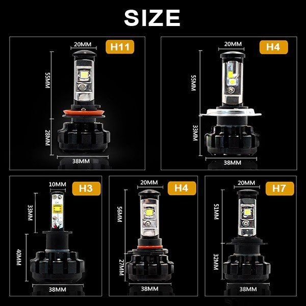 送料無料LED ヘッドライト CREE製XHP50チップ搭載 19200LM 12V  H4Hi/Lo H7/H8/H11/H16/HB3/HB4/H1 6500K 車検対応 2個set 即納!一年保証!|autoone|04