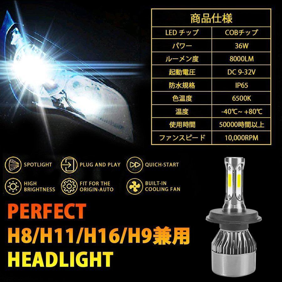 【即納】LEDヘッドライト  一体型  H4 Hi/Lo H8 H11 H16 H7 HB3 HB4   LEDフォグライト 16000LM 超明るい COB製LEDチップ LEDバルブ 車検対応 送料無 週末限定|autoone|06