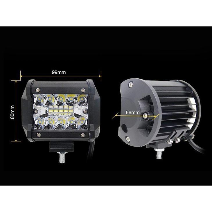 即納!LED ワークライト 作業灯 60W OSRAM製 5400lm 6000K 防水IP67 バックライト/トラック/ 農業機械/船舶/工事現 瞬間点灯 高透過性 DC9V-32V 「4個」 autoone 02