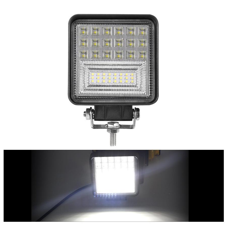 即納!爆裂発光 LED作業灯 60W相当 ホワイト 6300LM トラック /ジープ/ダンプ用ワークライト 補助灯 LEDワークライト1年保証 新品 DC9-32V 2個|autoone|02