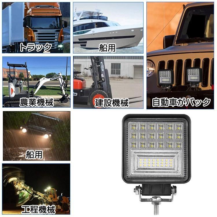 即納!爆裂発光 LED作業灯 60W相当 ホワイト 6300LM トラック /ジープ/ダンプ用ワークライト 補助灯 LEDワークライト1年保証 新品 DC9-32V 2個|autoone|08