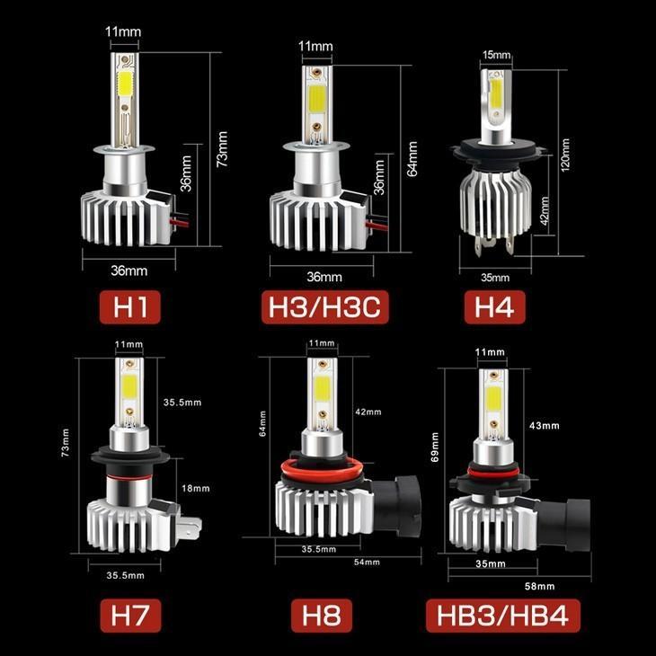 LEDヘッドライト led H4 フォグH11 H8 H16 HB3 HB4 H7 H1 H3 H3C 車検対応 6000K ホワイト 純正サイズ  IP68防水最高 12000LM 1年保証 左右2本! 送料無料!|autoone|08