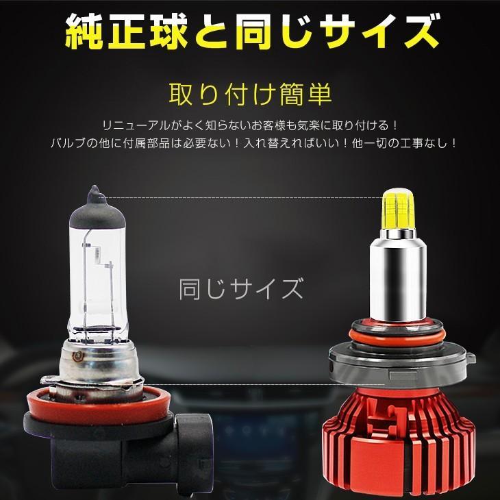 LED一体型ヘッドライト 車検対応 21600LM 6500K 12V専用 360°無死角発光 H4/H8/H11/H16/H7/H1/HB3/HB4/H3/H3C/D1/D2/D3/D4  [送料無料/2個セット]|autoone|07