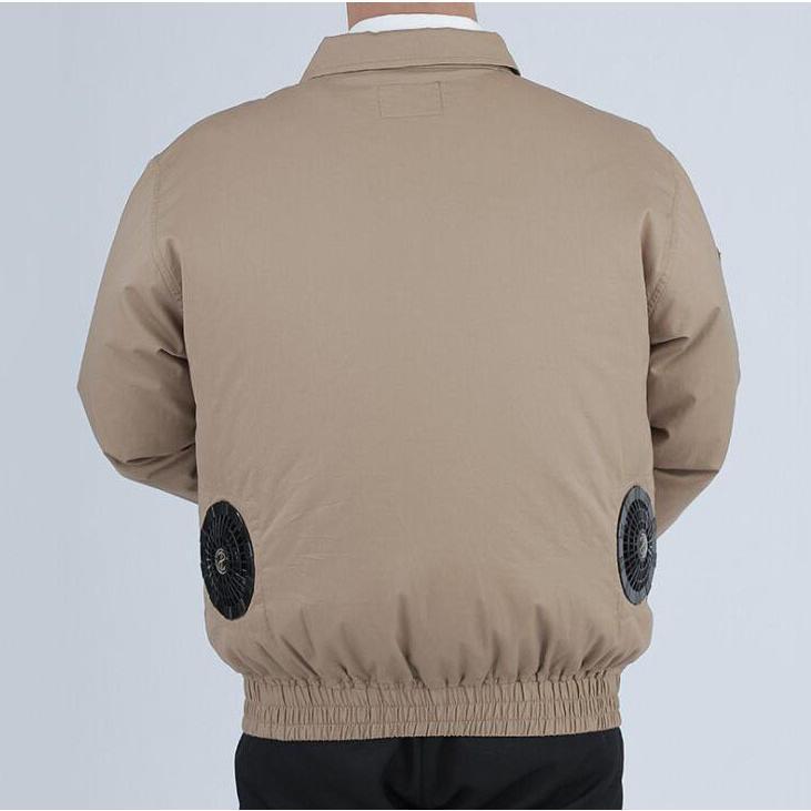 空調服セット 作業服 長袖 空調服 ファン バッテリー付き 熱中症対策 扇風機 大風量 風量4段階調節 日本語説明書 空調風神服 大容量バッテリー|auvshop|11