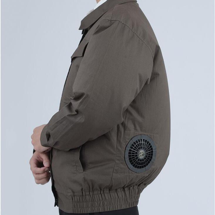 空調服セット 作業服 長袖 空調服 ファン バッテリー付き 熱中症対策 扇風機 大風量 風量4段階調節 日本語説明書 空調風神服 大容量バッテリー|auvshop|14