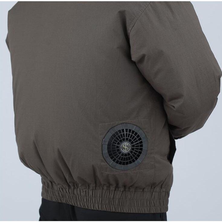 空調服セット 作業服 長袖 空調服 ファン バッテリー付き 熱中症対策 扇風機 大風量 風量4段階調節 日本語説明書 空調風神服 大容量バッテリー|auvshop|15