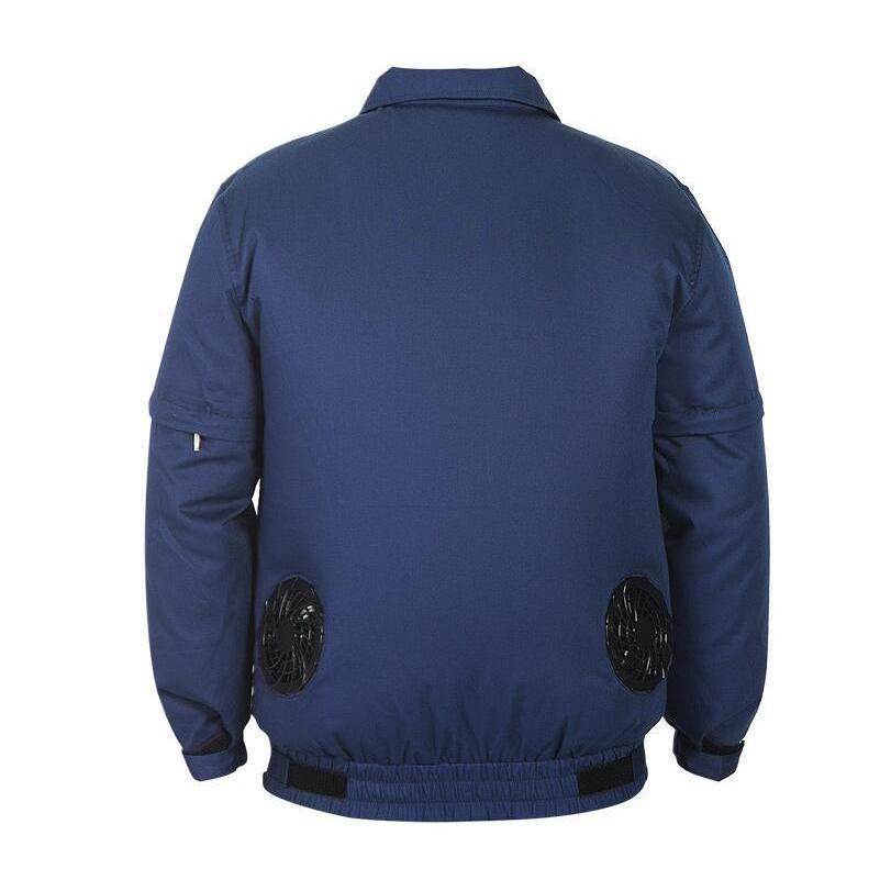 アウトレット 空調服セット 作業服 半袖長袖両用 溶接対応 熱中症対策 ファン付き バッテリー付き ジャケット 空調服 扇風機 高温作業 auvshop 19