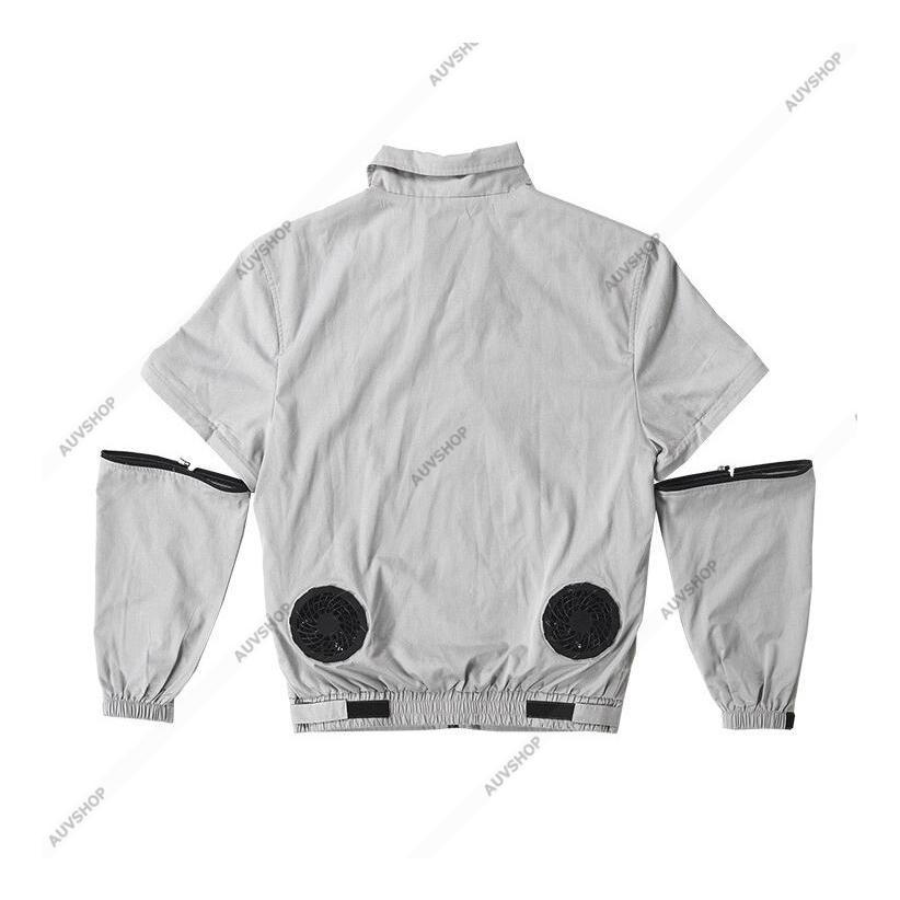 アウトレット 空調服セット 作業服 半袖長袖両用 溶接対応 熱中症対策 ファン付き バッテリー付き ジャケット 空調服 扇風機 高温作業 auvshop 04