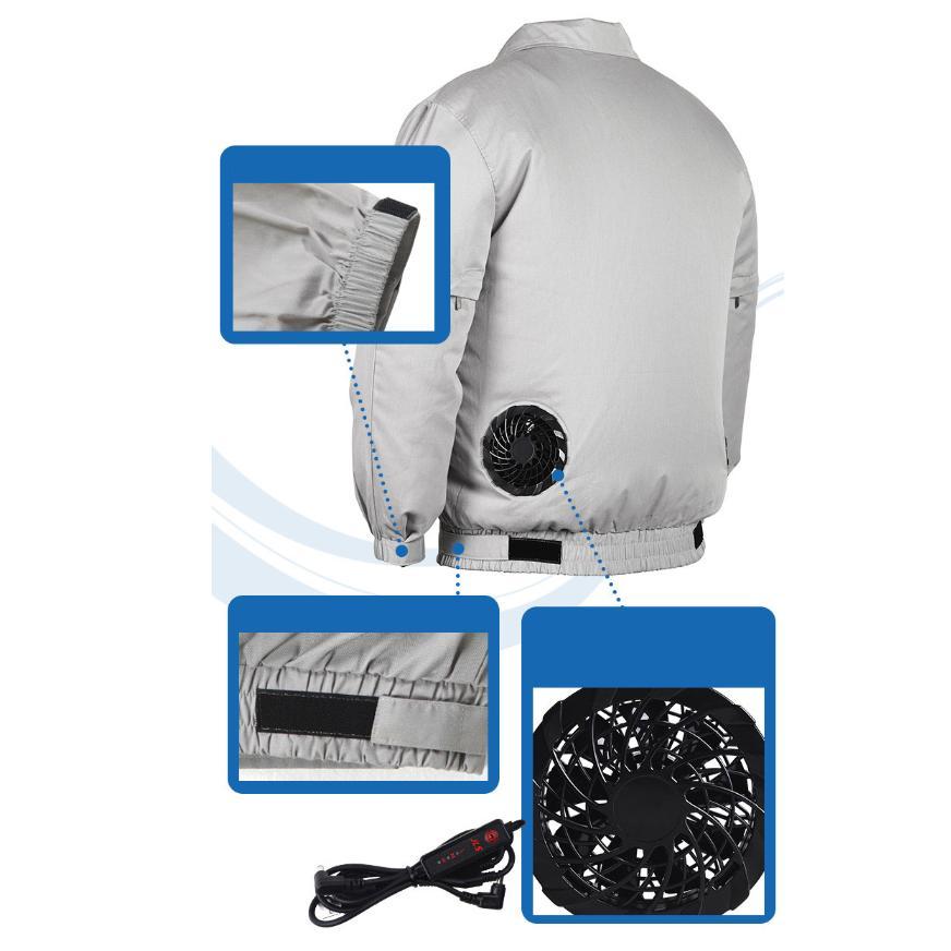 アウトレット 空調服セット 作業服 半袖長袖両用 溶接対応 熱中症対策 ファン付き バッテリー付き ジャケット 空調服 扇風機 高温作業 auvshop 10