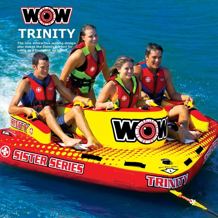 WOW (ワオ) トリニティー 4人乗り トーイングチューブ バナナボート