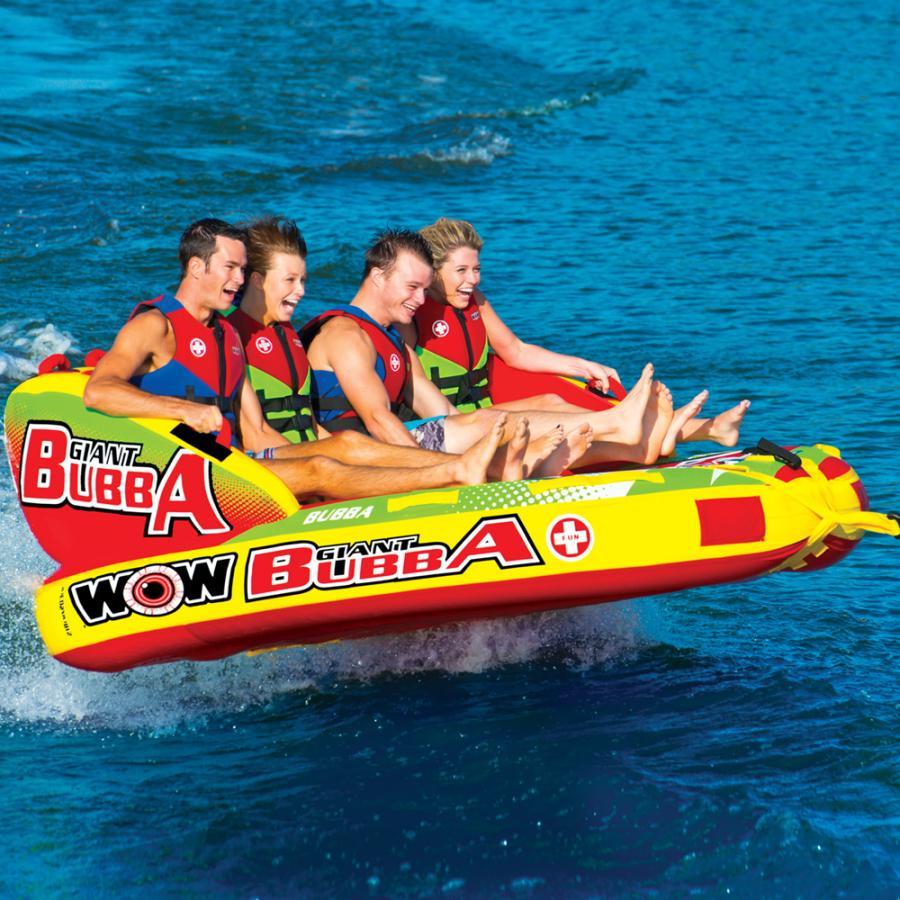 トーイングチューブ WOW (ワオ) 4人乗り ジャイアントブッバ バナナボート