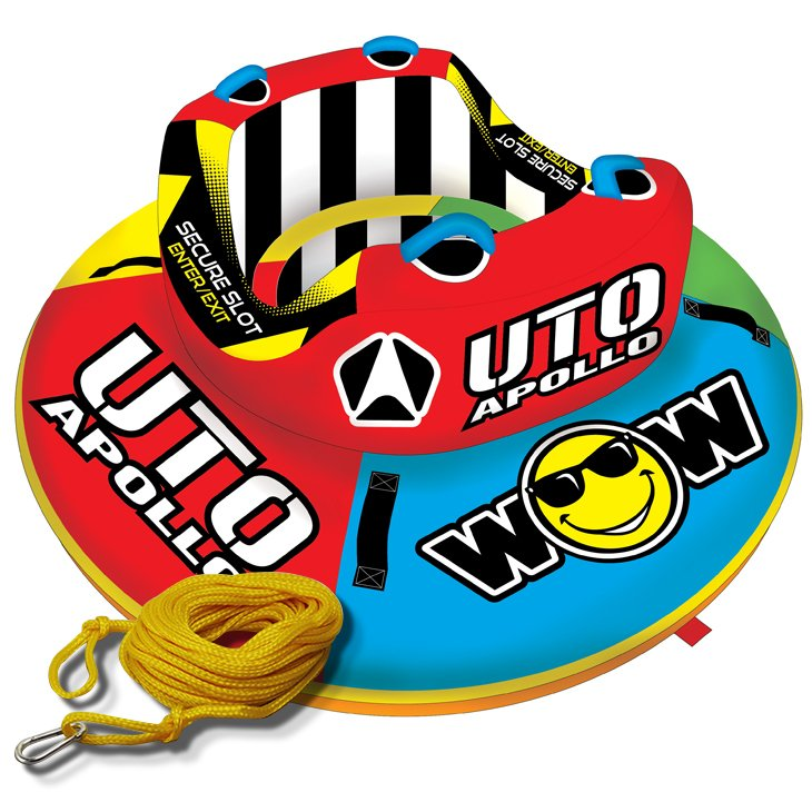 トーイングチューブ WOW (ワオ) 2人乗り UTO アポロ 2点セットロープ付 バナナボート