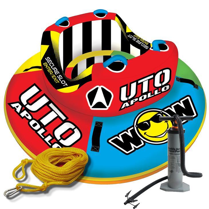 トーイングチューブ WOW (ワオ) 2人乗り UTO アポロ 3点セットロープ+ハンドポンプ付 バナナボート