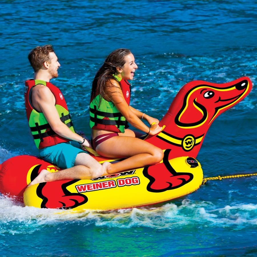 トーイングチューブ 2人乗り マリンスポーツ WOW (ワオ) ウインナードッグ バナナボート