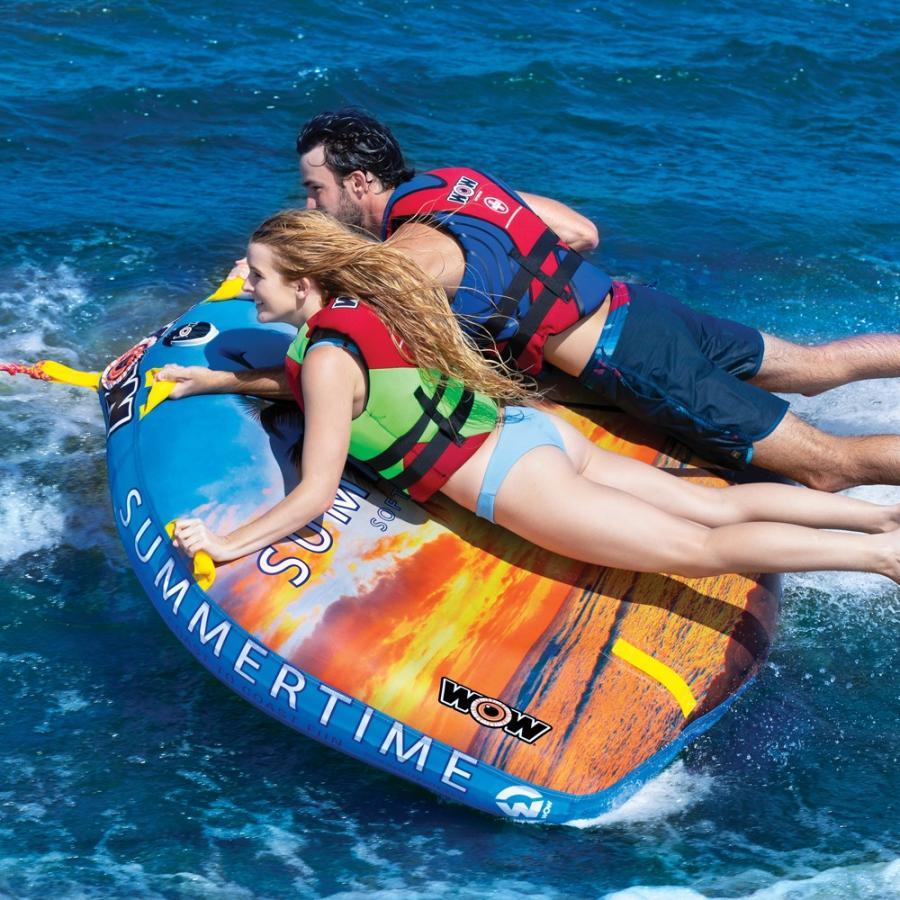 トーイングチューブ 2人乗り マリンスポーツ WOW (ワオ) サマータイム バナナボート