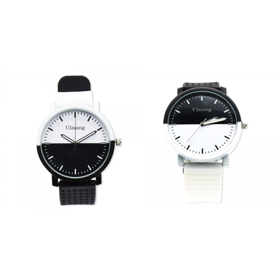 e33012d073 モノクロ バイカラー ウォッチ 腕時計 メンズ レディース オシャレ ユニーク デザイン avekt ...